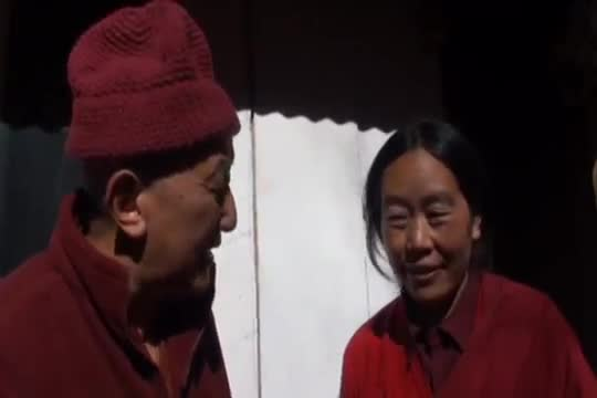 Rinpoche with Nun Retreatant