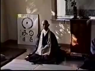 Harada Roshi in the Zendo