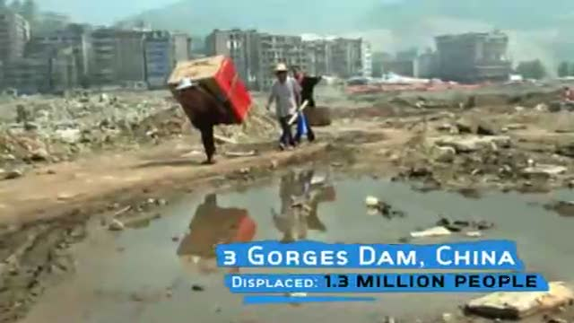 Displacement owing to Dam Projects