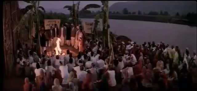 Burning Hindu Law Book Manu Smriti