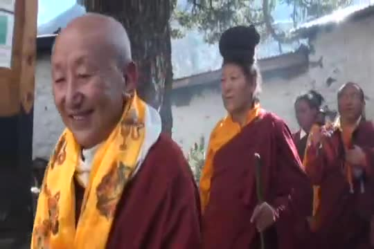 Rinpoche in a Monastery