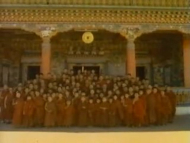Monks at Rumtek Monastery
