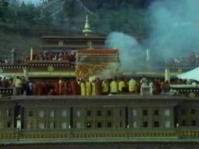 The Funeral in Rumtek Monastery